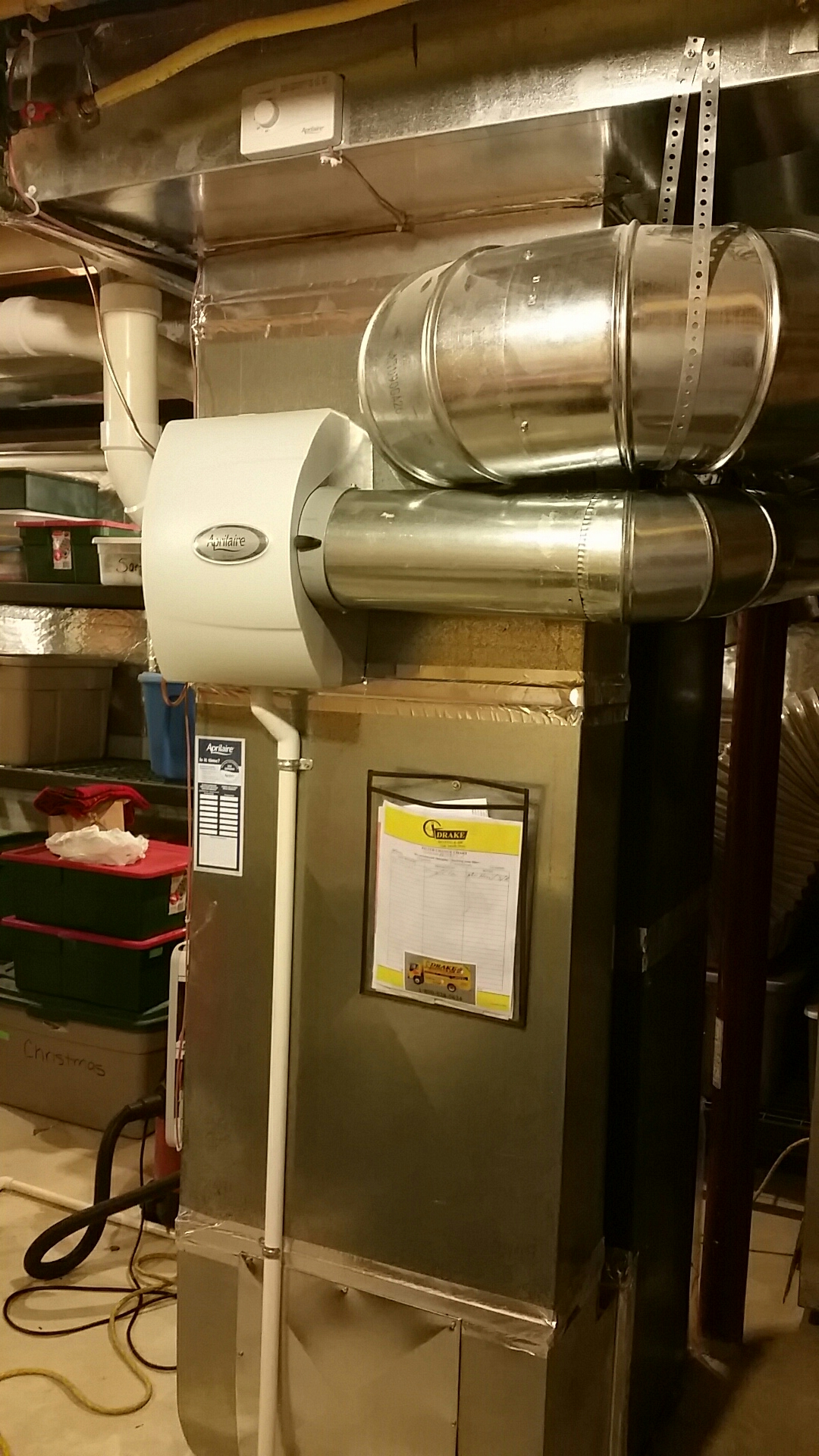 Lebanon, OH - Installed new humidifier and did duct work cleaning
