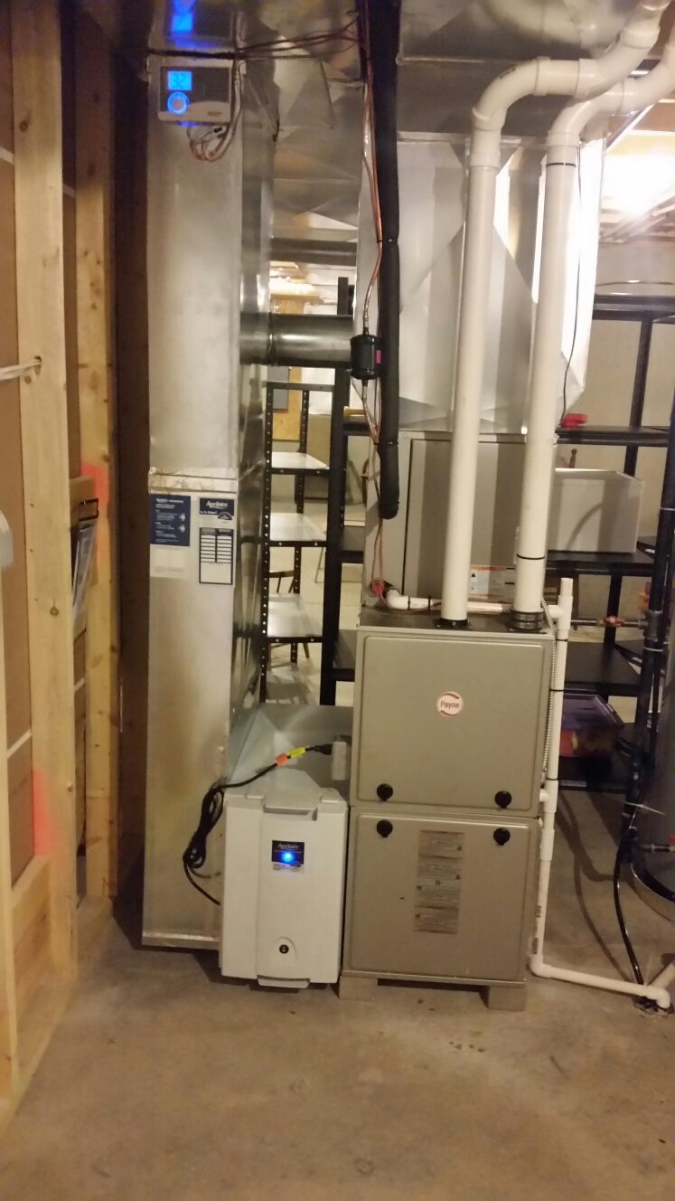 Springboro, OH - Installed new Aprilaire humidifier and electronic air filter