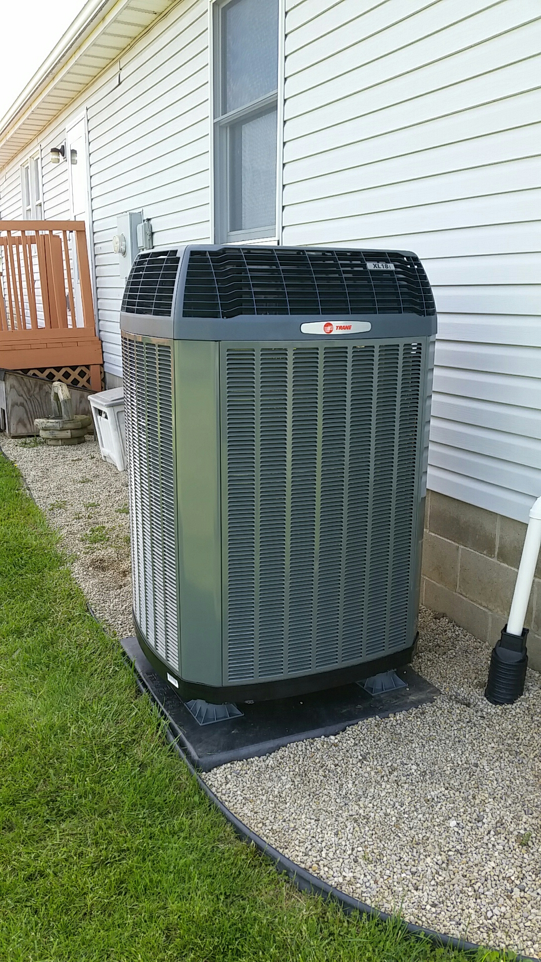 Installed new trane air handler and heat pump