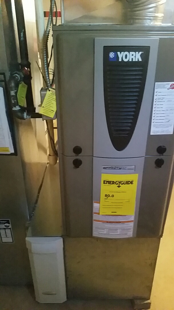 Springboro, OH - Installed new York 80 % modulating furnace