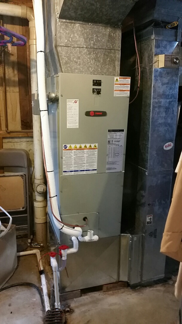 Hamilton, OH - Installed new trane air handler and heat pump