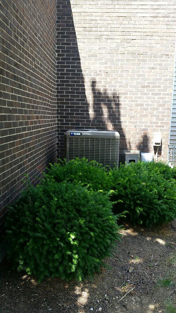 Washington Township, OH - Installed new York 14 seer heat pump