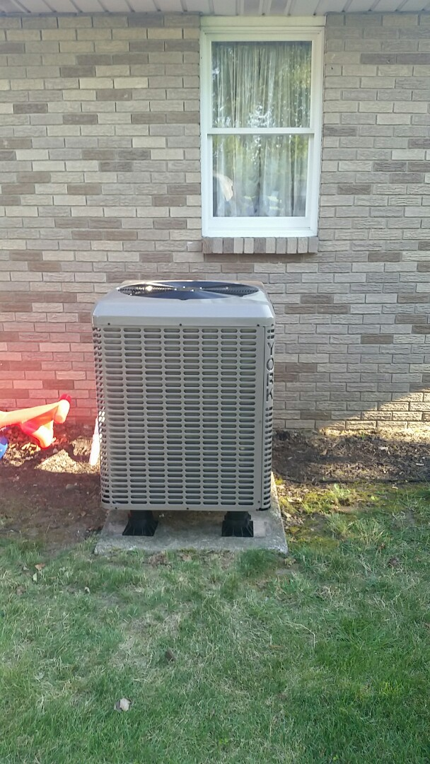 Medway, OH - Installed new York 16 seer  heat pump and air handler