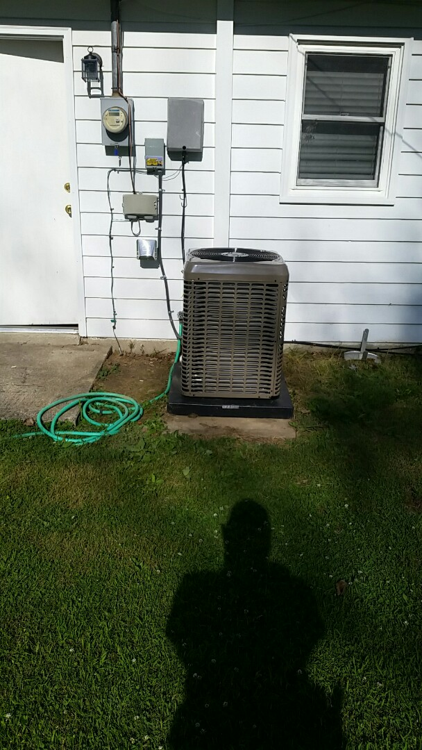Oxford, OH - Installed new York 80 % furnace and air conditioning