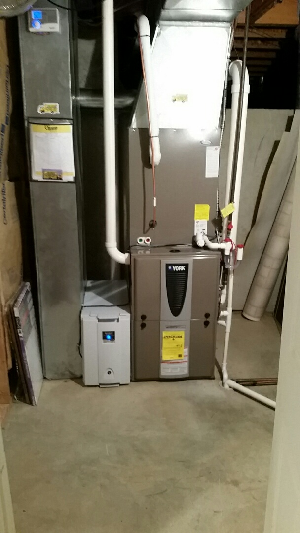 Centerville, OH - Installed new York 97.5 % modulating furnace  and heat pump