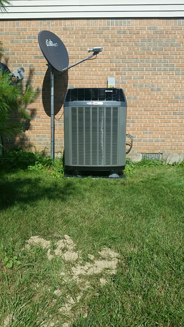 New Paris, OH - Installed new trane high efficiency gas furnace and heat pump