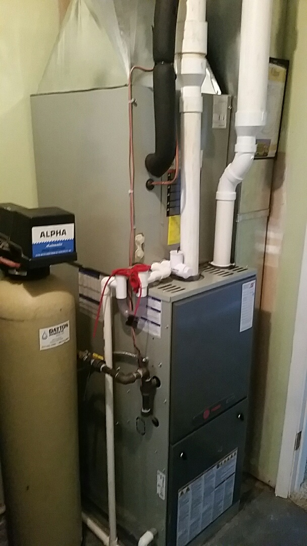 South Charleston, OH - Installed new trane furnace and air conditioning with duct work