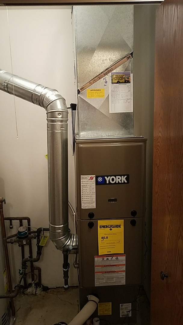 Springfield, OH - Installed new york furnace and air conditioning and