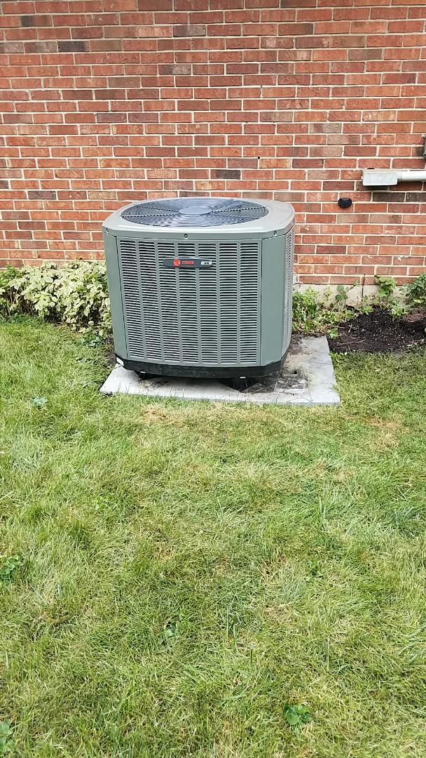 Springfield, OH - Installed new trane heat pump