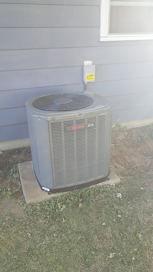 Springfield, OH - Installed new trane furnace and air conditioning