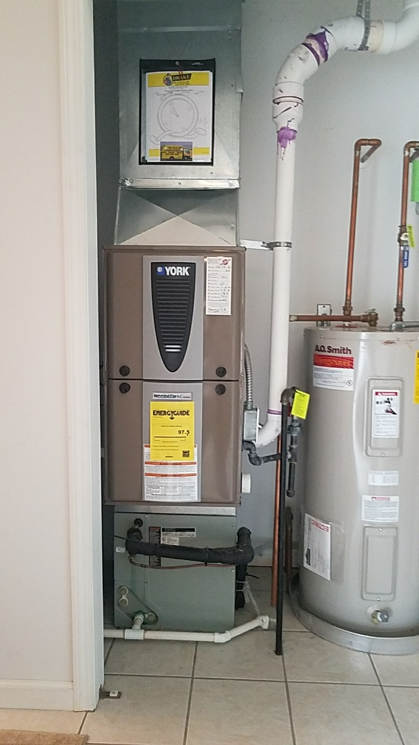 Installed new york modulating furnace and air conditioning