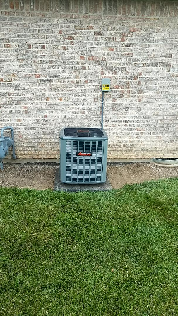 Springfield, OH - Installed new Amana air conditioner