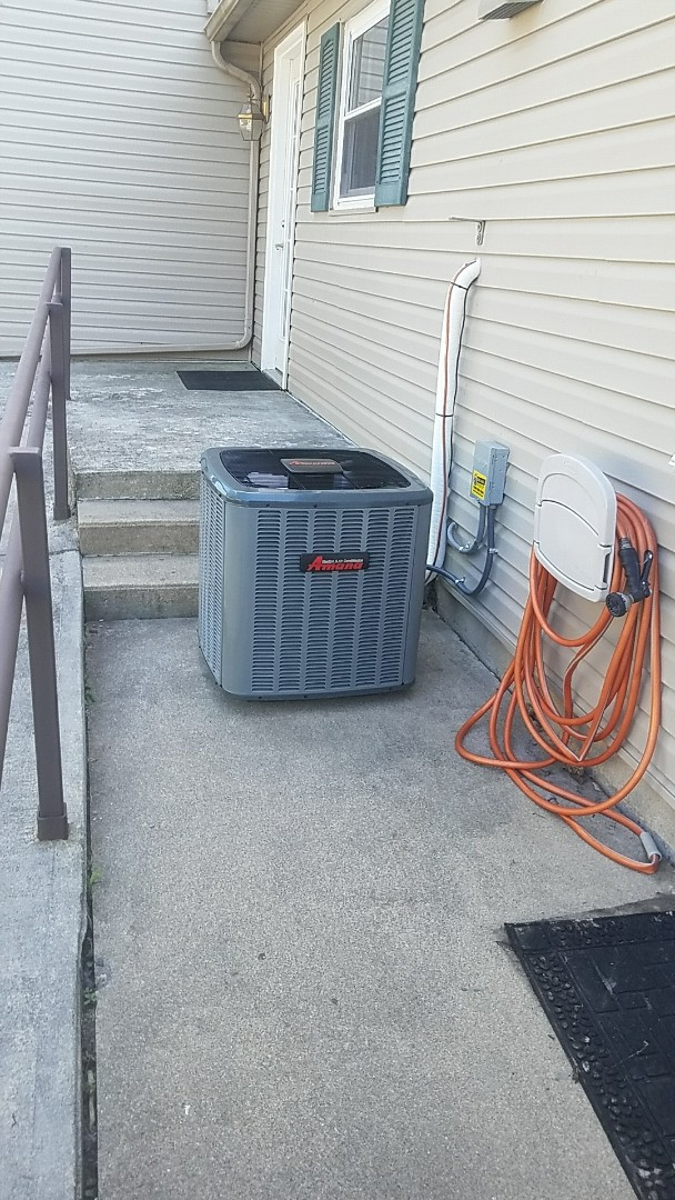 Arcanum, OH - Installed new Amana air conditioner