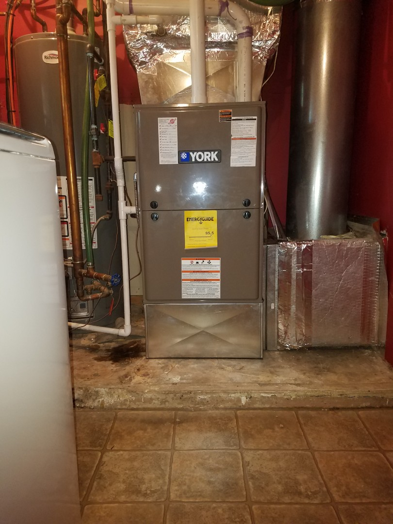 Eaton, OH - Installed new YORK furnace