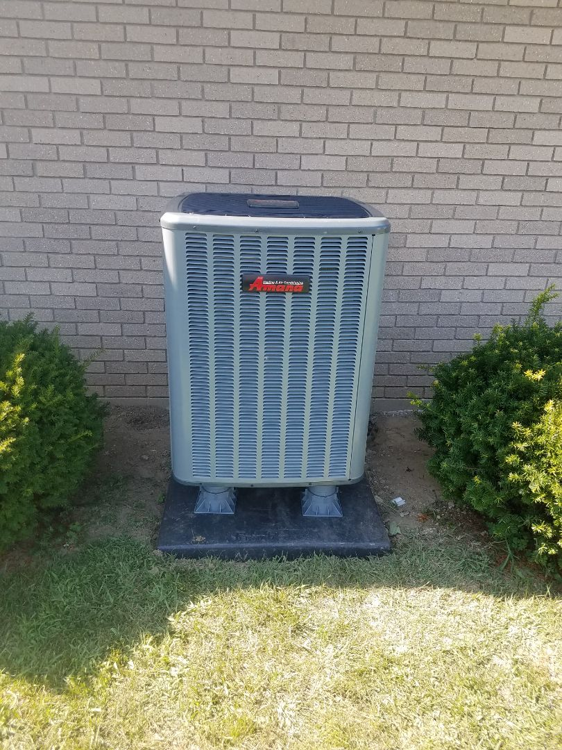 Eaton, OH - Installed new amana air handler and heat pump