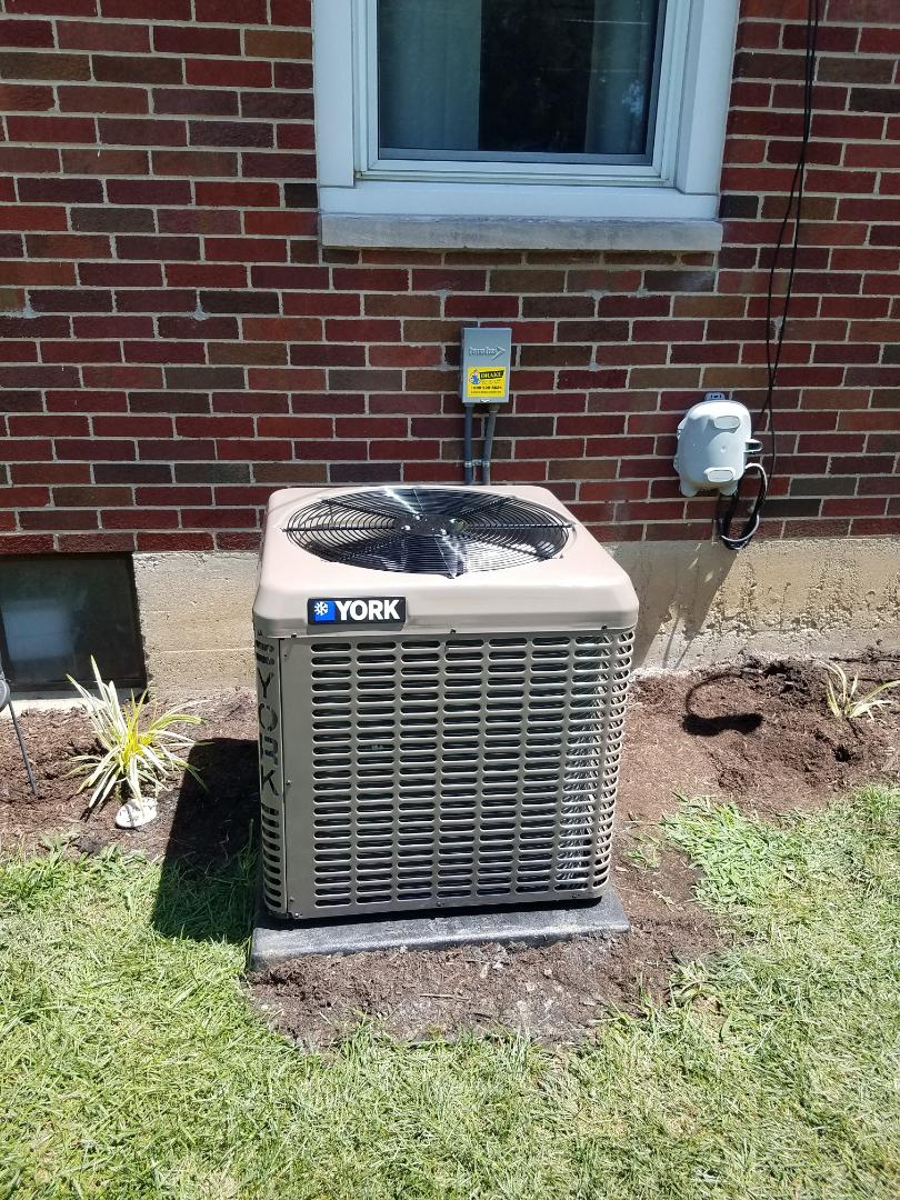 Lewisburg, OH - Installed new york air conditioning