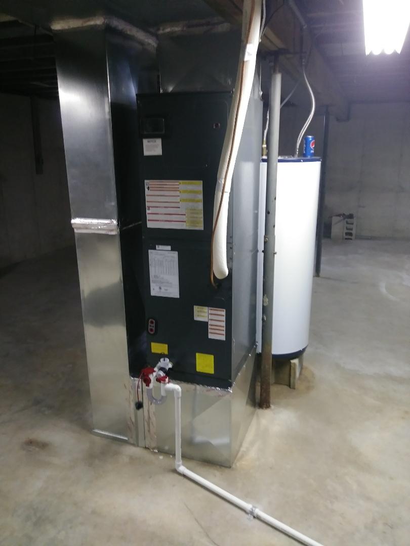 Installed new heat pump system