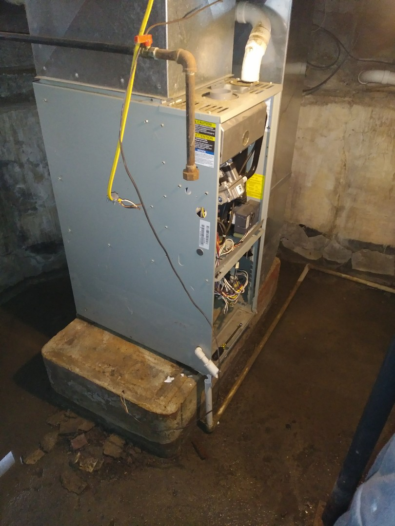 Changing out old gas furnace