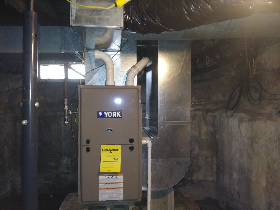Installed new 90 percent gas furnace