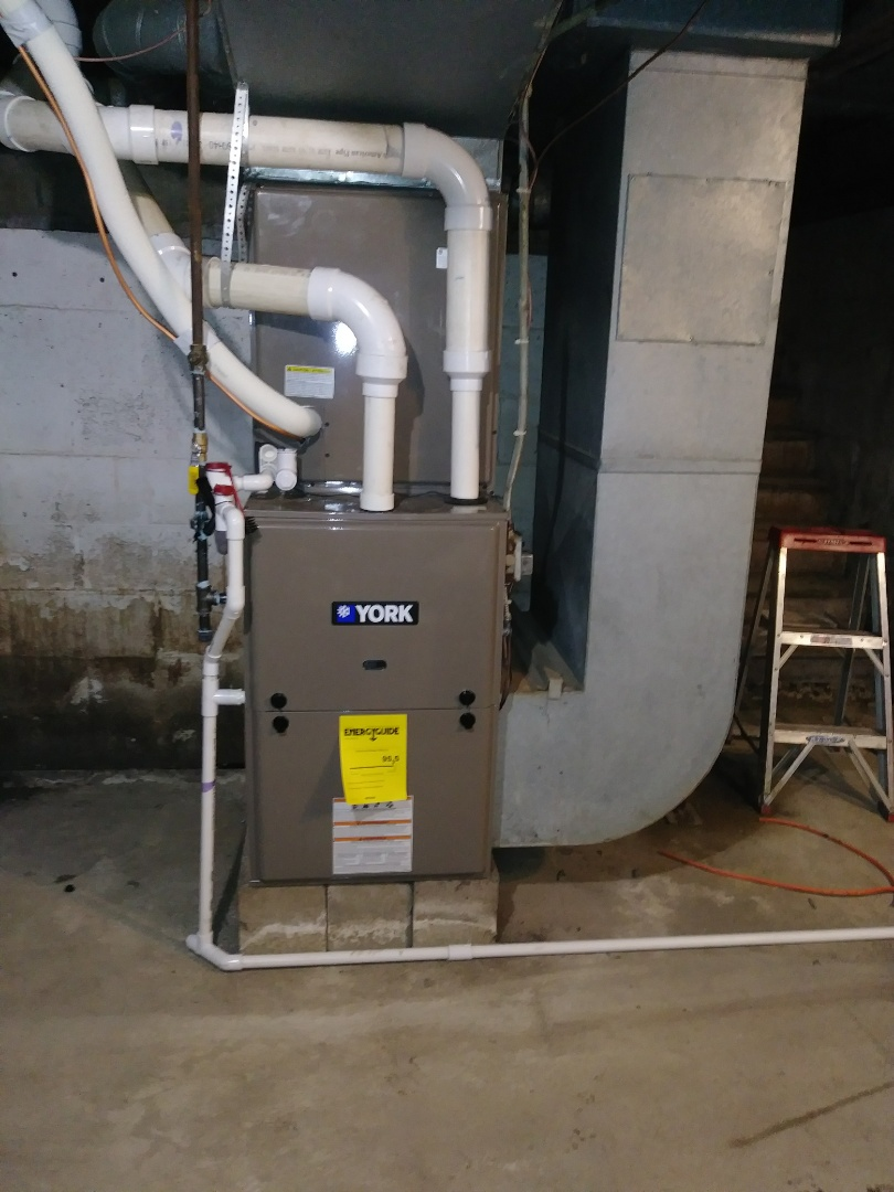 Springfield, OH - Installed new york 90 plus gas furnace and air cond.
