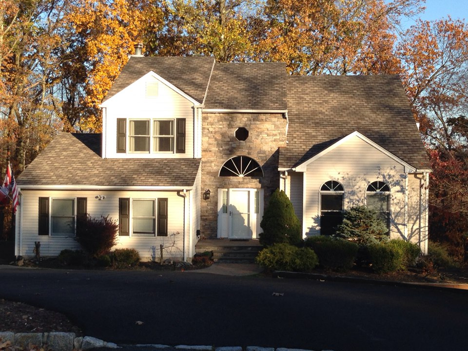 Randolph, NJ - GAF Camelot II shingles in weathered wood with copper valleys