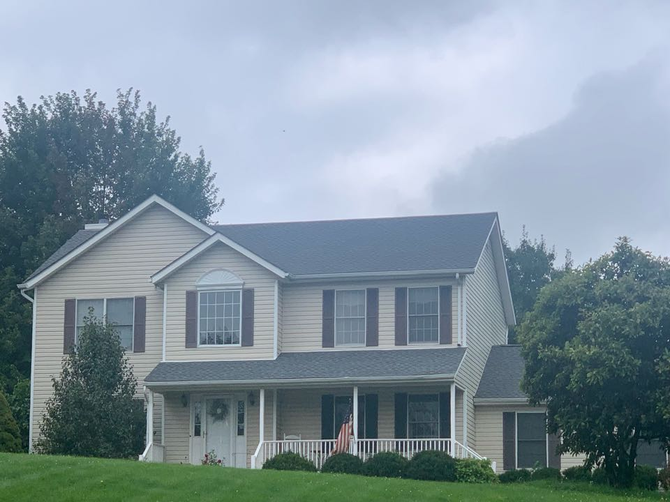 Wantage, NJ - Completed Job in Wantage, NJ. This roof was re-done in GAF Timberline HDZ - Pewter Grey Shingles