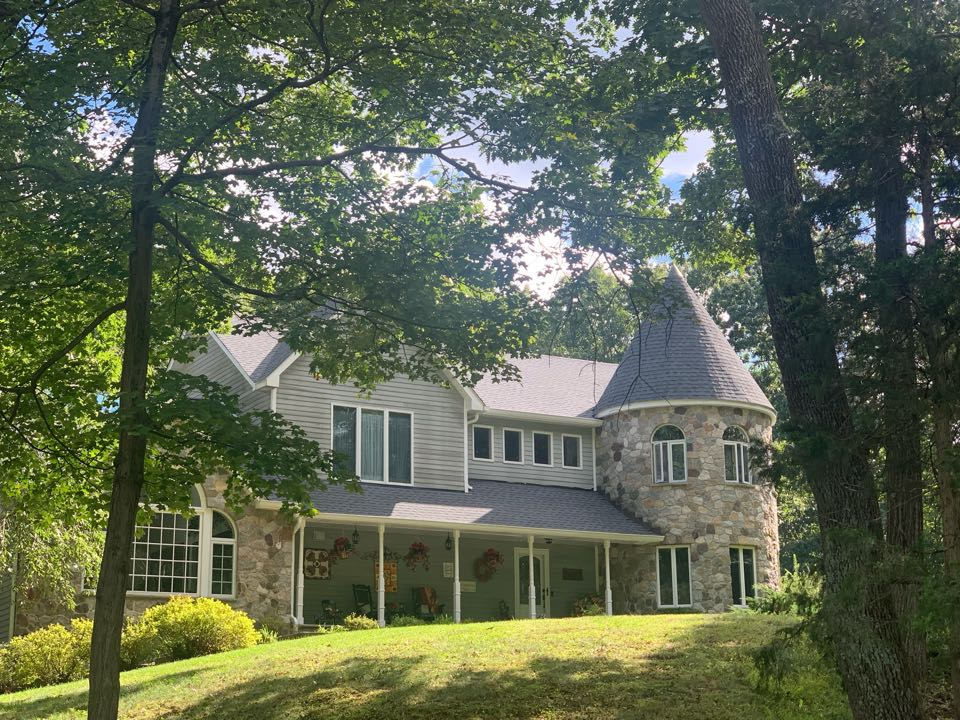 Newton, NJ - Completed Job in Newton, NJ. This beautiful home was re-done in GAF Timberline HDZ - Pewter Grey Shingles