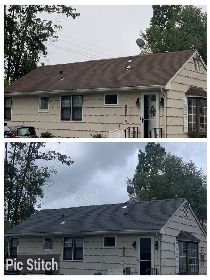 Andover, NJ - Completed Job in Denville, NJ. This roof was redone in GAF Timberline HDZ - Charcoal. Here is a before and after photo to see the difference the new roof made.