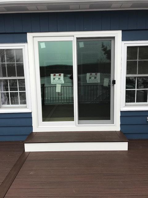 Jefferson, NJ - Installed Harvey Building Products 8ft Sliding Glass Door