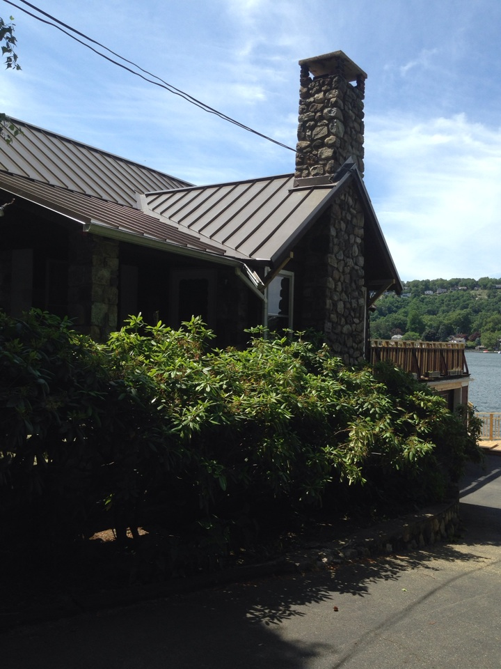 Metal roof on Lake Mohawk Sparta NJ