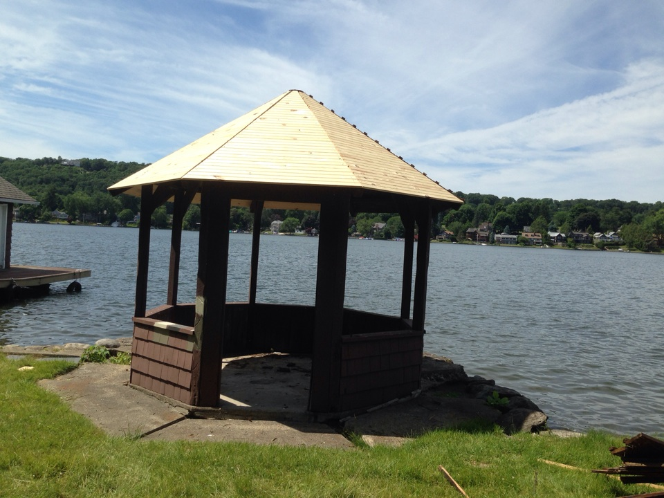 Underlayment for the new roof on a Gazebo on Lake Mohawk - Sparta NJ