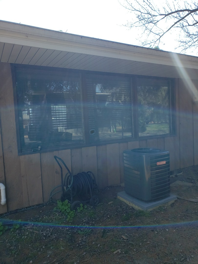 Menomonee Falls, WI - Original wood picture windows with plate glass removal ready to be updated with triple pane energy-efficient vinyl windows!