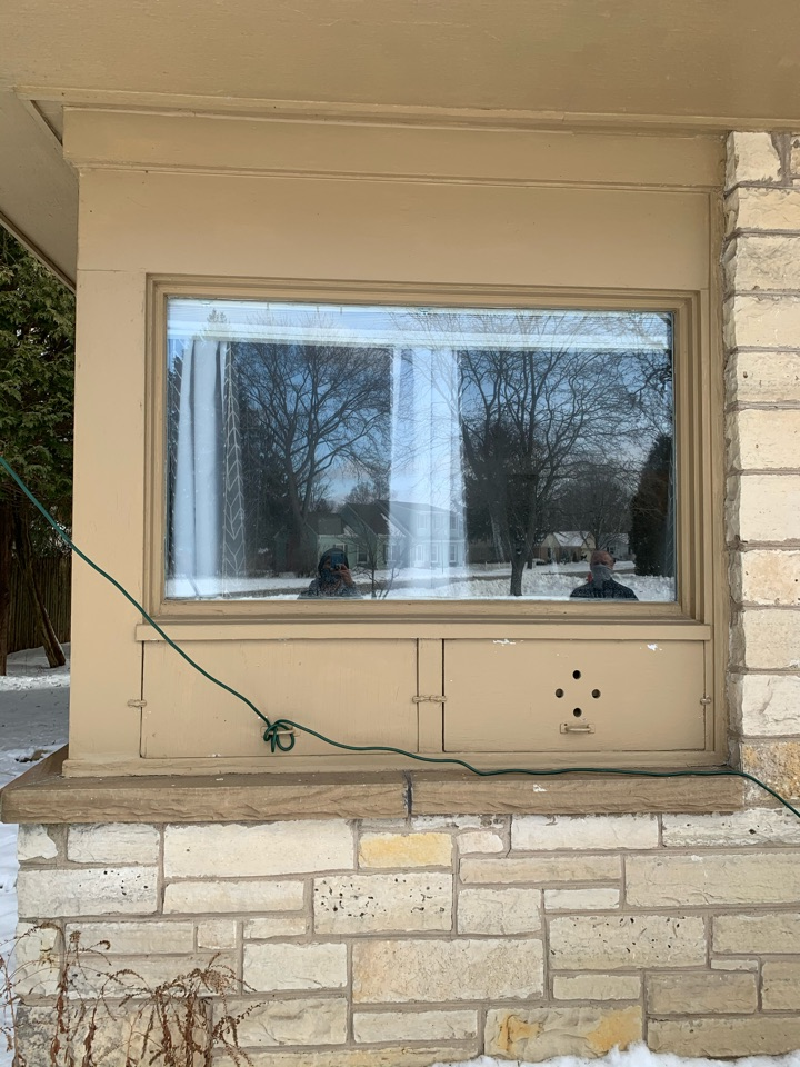 Bayside, WI - Giving this homeowner improved ease of ventilation and better air infiltration with removal of old 1950 bottom vents, and installing an operable vinyl triple pane window by Preservation!