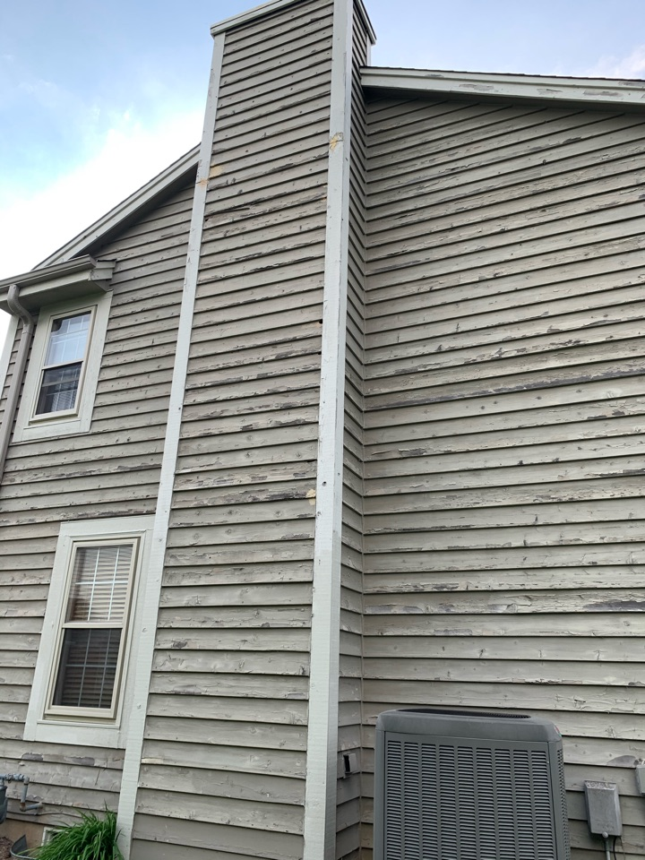 Waukesha, WI - Tired of painting your old cedar siding! Call us for a free estimate for our maintenance free composite siding by Ascend!