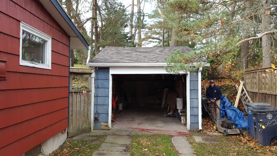 Ann Arbor, MI - Finished up a garage rebuild. Looking good!