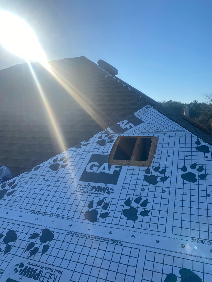 Spring, TX - Today, we are installing the absolute best composition roofing system you can get. This roof replacement project includes lifetime architectural shingles, a 25 year Gold Pledge labor warranty, and all the roof top ventilation this house needs.
