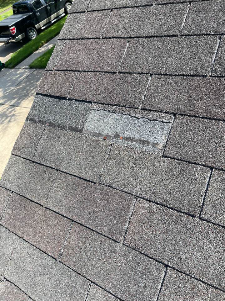 Pearland, TX - We are working on a leak inspection and still finding damage from hurricane Nicholas. We will replacing this long time customers roof.