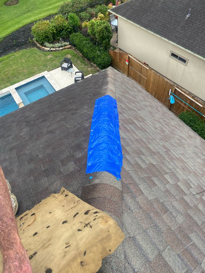 Houston, TX - If you have had any roof damage due to high  winds, hail, or any other storm, it is urgent to have your roof inspected. A professional roofer will provide a temporary repair until your insurance adjuster can further assess the damage.