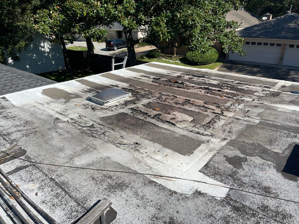 Sugar Land, TX - Leaking low sloped roofs don't always need to be replaced. We have coating options that can extend the life of a roof for 20 years.