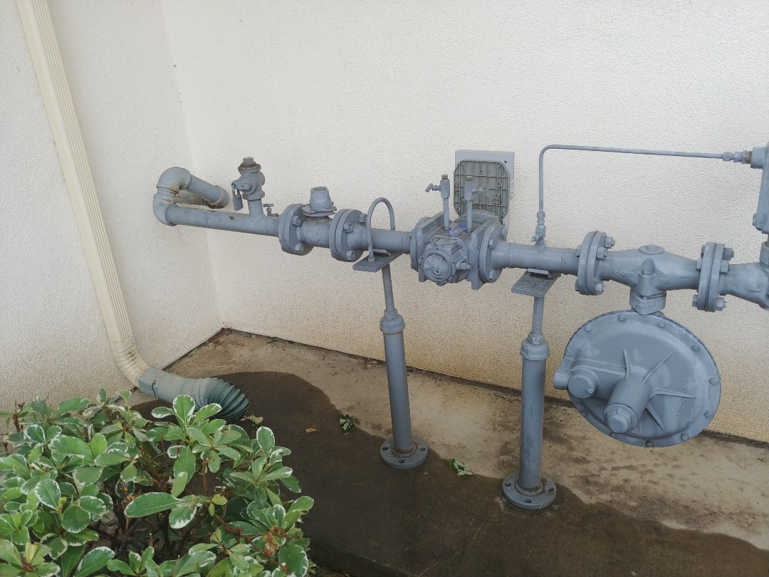 Vacaville, CA - Inspected gas line