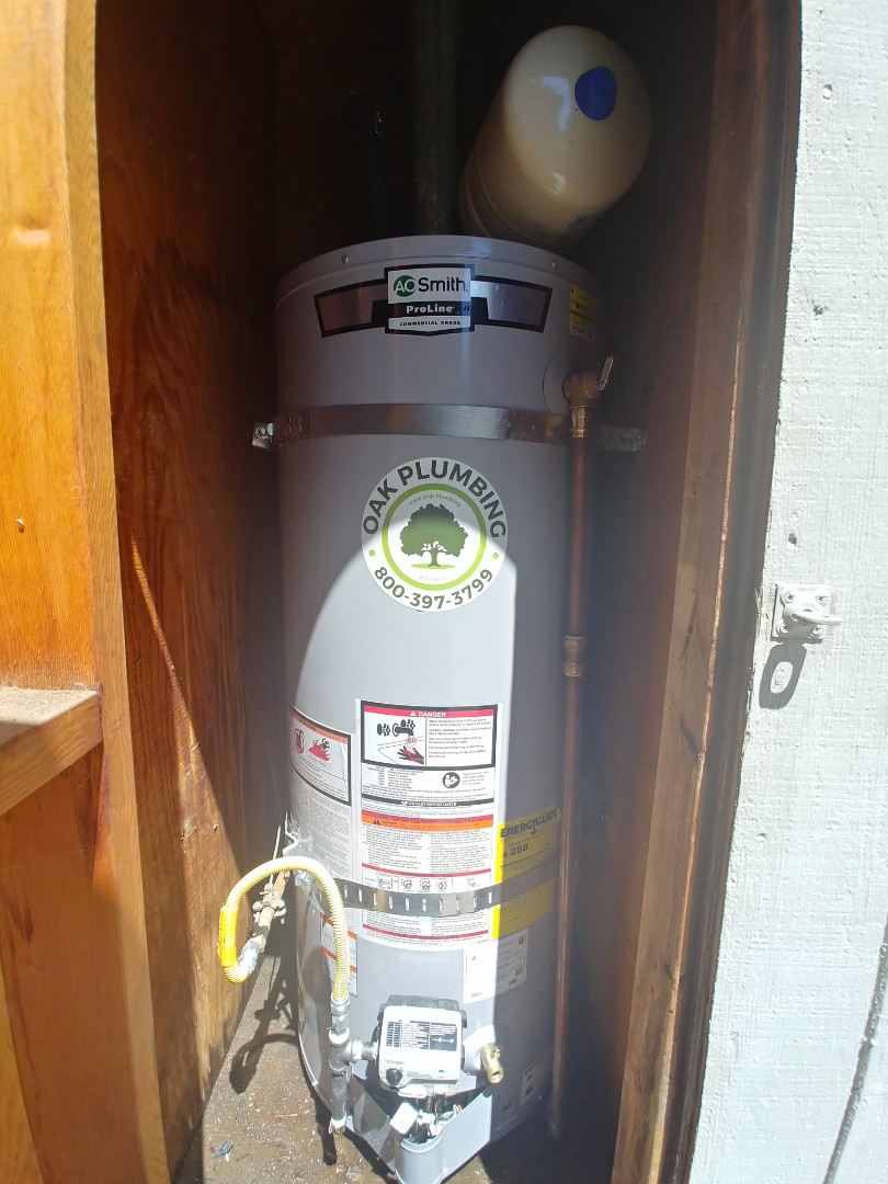 Martinez, CA - Installed New 50 Gallon water heater up to code for valued customer.