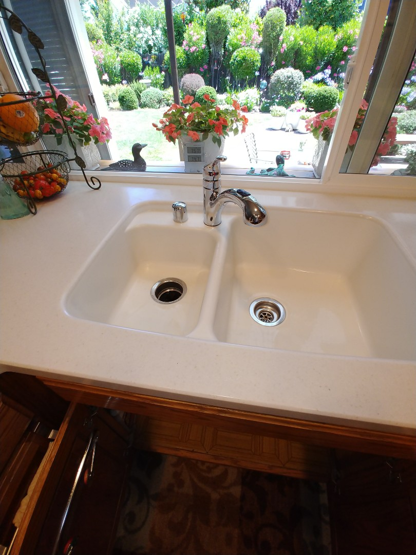 San Ramon, CA - Install customer provided kitchen faucet.