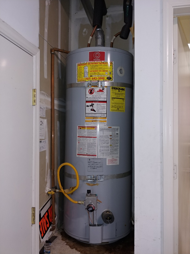 Vallejo, CA - Installed Expansion tank, gas sediment trap, and full port drain valve