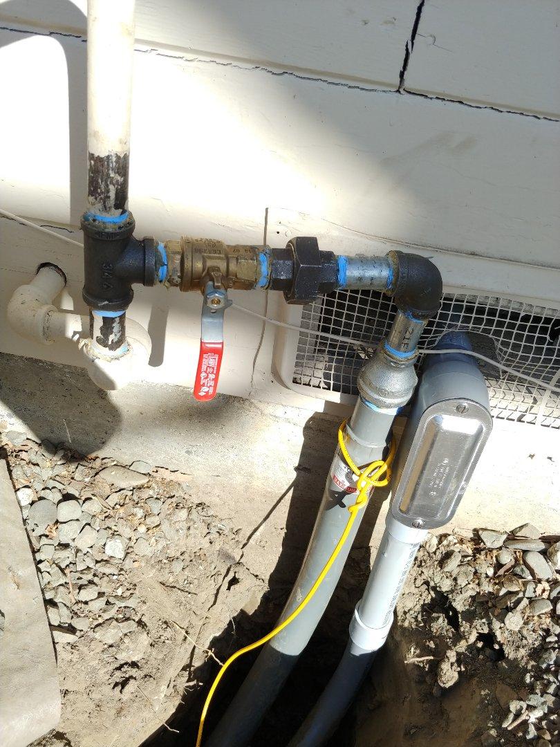 Napa, CA - Ran gas line to generator
