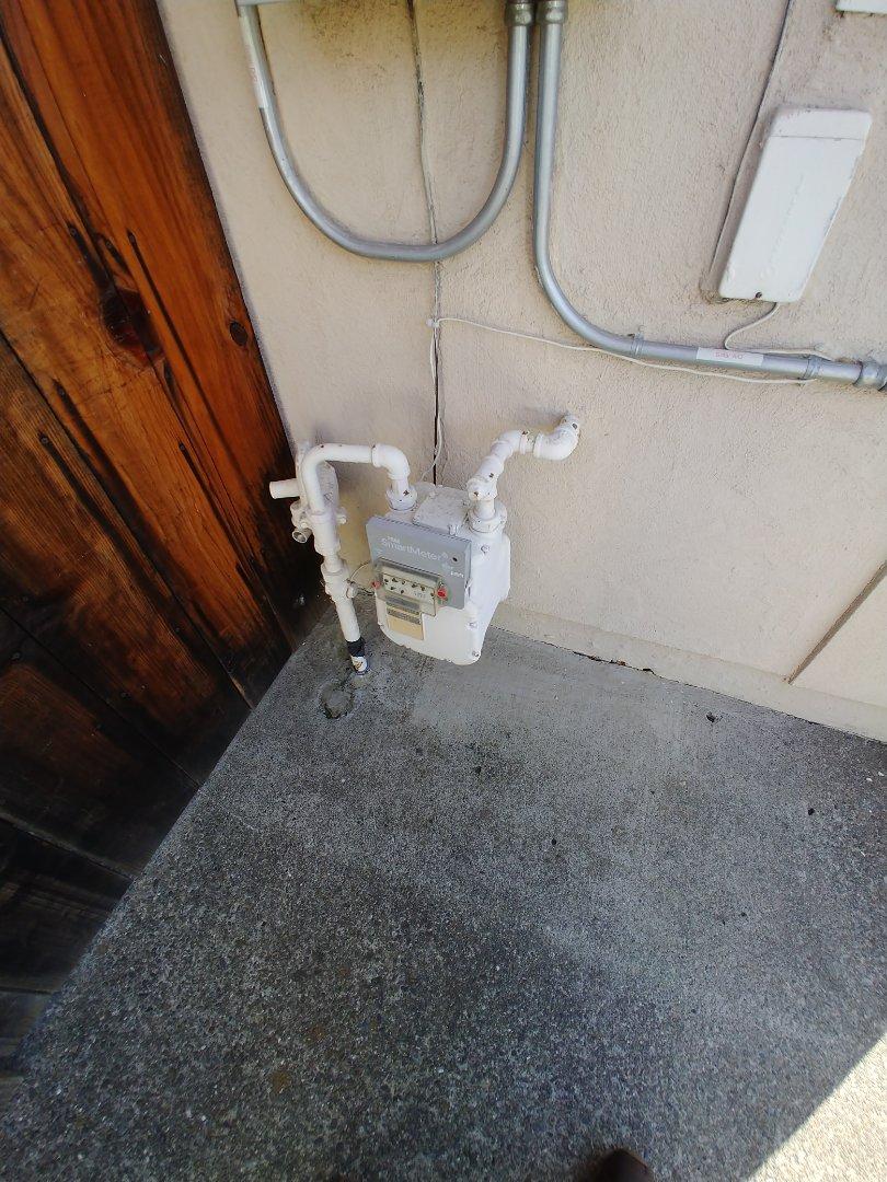 Napa, CA - Ran gas line to generator.