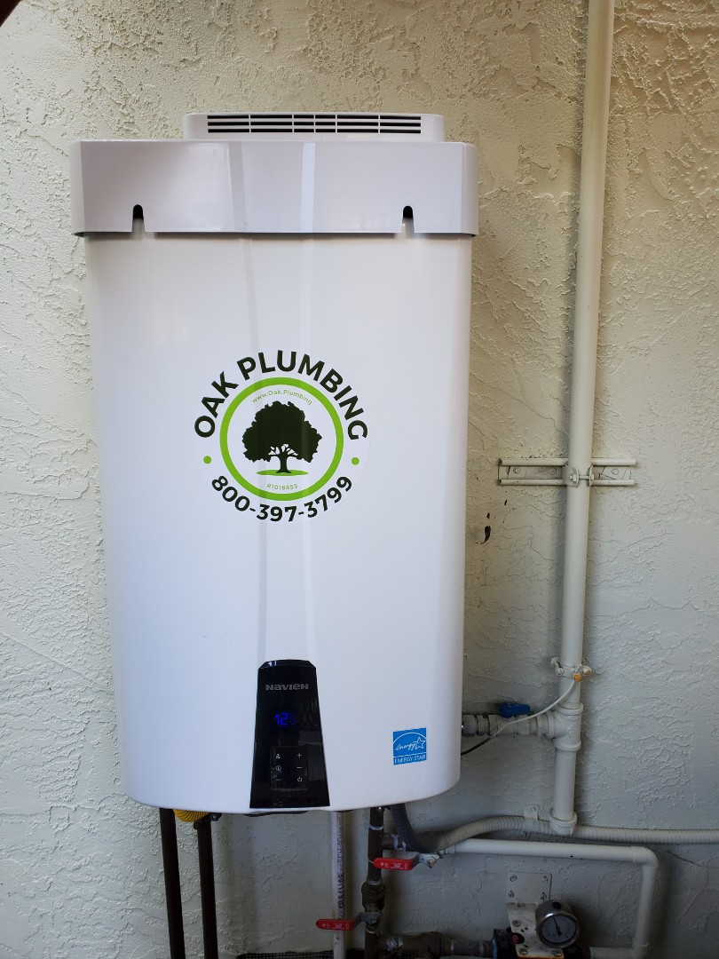 Benicia, CA - Installed tankless water heater and filter.