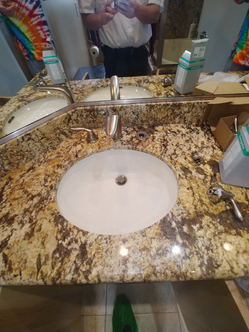 Benicia, CA - Installed customer supplied faucet stems