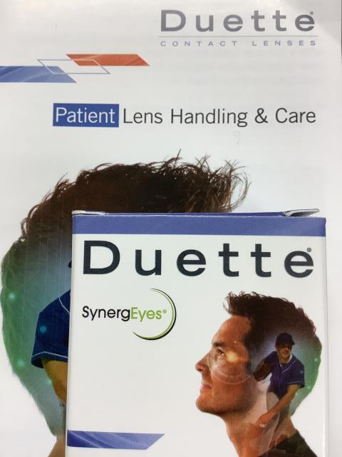 Montclair, CA -  Just fit a patient in Duette lenses! A great hybrid lens for patients with Astigmatism