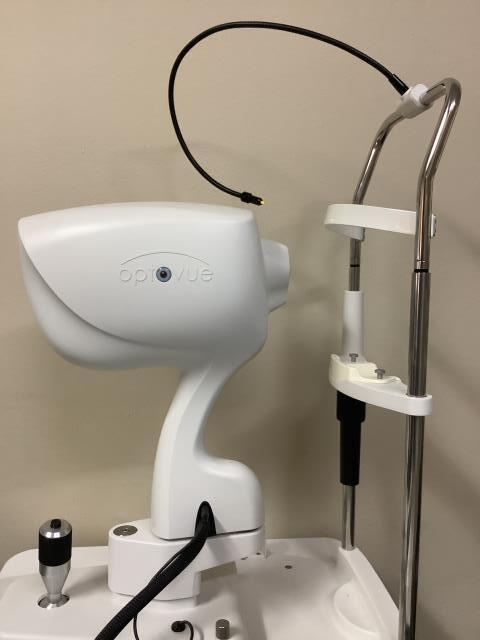 Jurupa Valley, CA - Just completed an OCT scan to evaluate a patient's anterior angle.