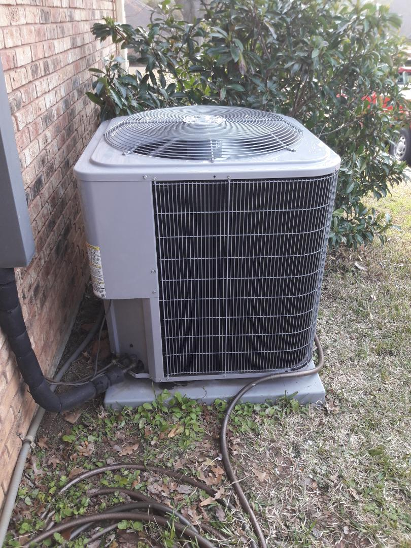 Colleyville, TX - Changed coil on condenser for a family in Fort Worth.
